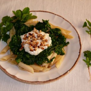 brave hendrik met pasta en geitenkaas