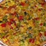 kwarktaart met groente en kaas
