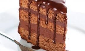 chocoalde taart doorsnede