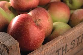 zoete appels in kist