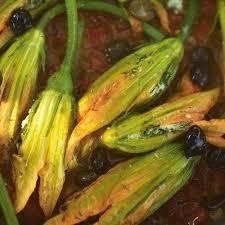 ingelegde courgette bloemen
