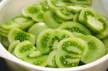 groene tomaten gesneden
