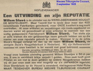 Nieuwe Tilburgsche Courant 2 september 1925 STUVE