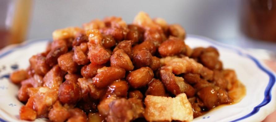 verhouding droge en gekookte bruine bonen