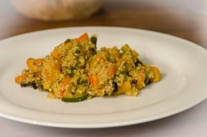 Quinoa met pompoenblokjes