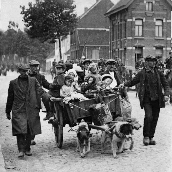 Eerst wereldoorlog vlucht-uit-belgië