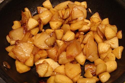 smalt appels in de pan