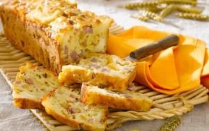 cake met ham en kaas en groente