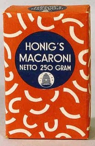 eerste macaroni hoorntjes van honig