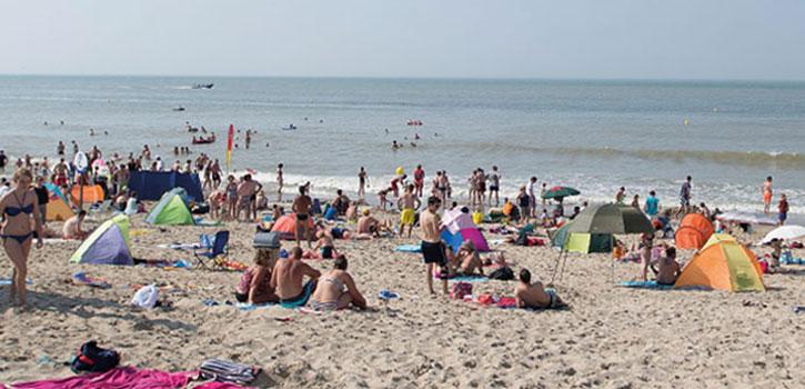 Bredene aan Zee het strand