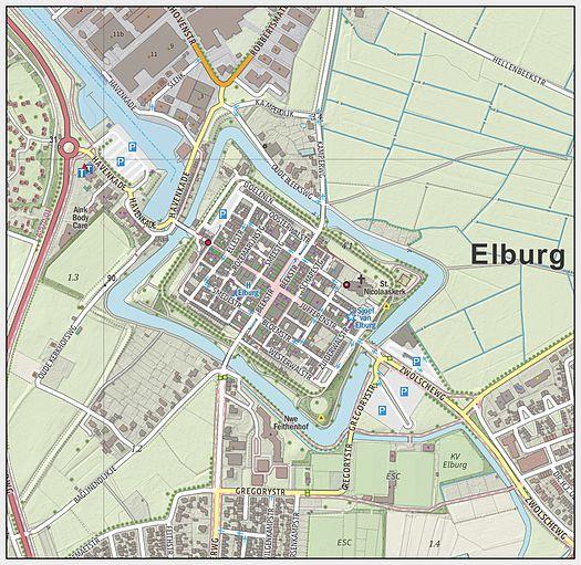 Elburg-centrum-oude kaart