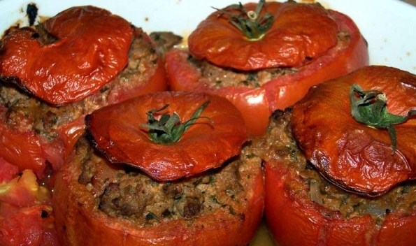 gevulde tomaat met gehakt