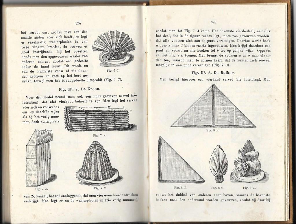 nationaal kookboek panina's servetten vouwen