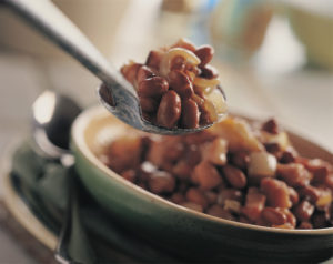 bruine bonen gekookt als schotel