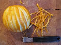 schilletjes van een sinaasappel