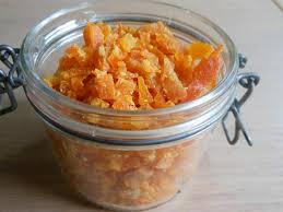 sinaasappelsnippers gekonfijt