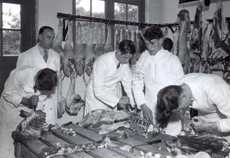 zo leerden slagers vroeger het vak