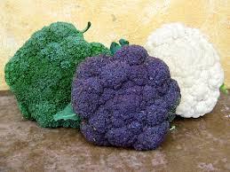 broccoli in meerdere kleuren