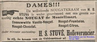 Advertentie Stuve nougat