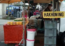 Hakhonig op de markt